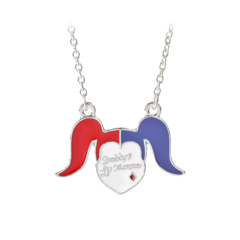 KYSZDL 2017 new personality Suicide Squad suicide squad clown female baseball pendant necklace alloy jewelry wholesale