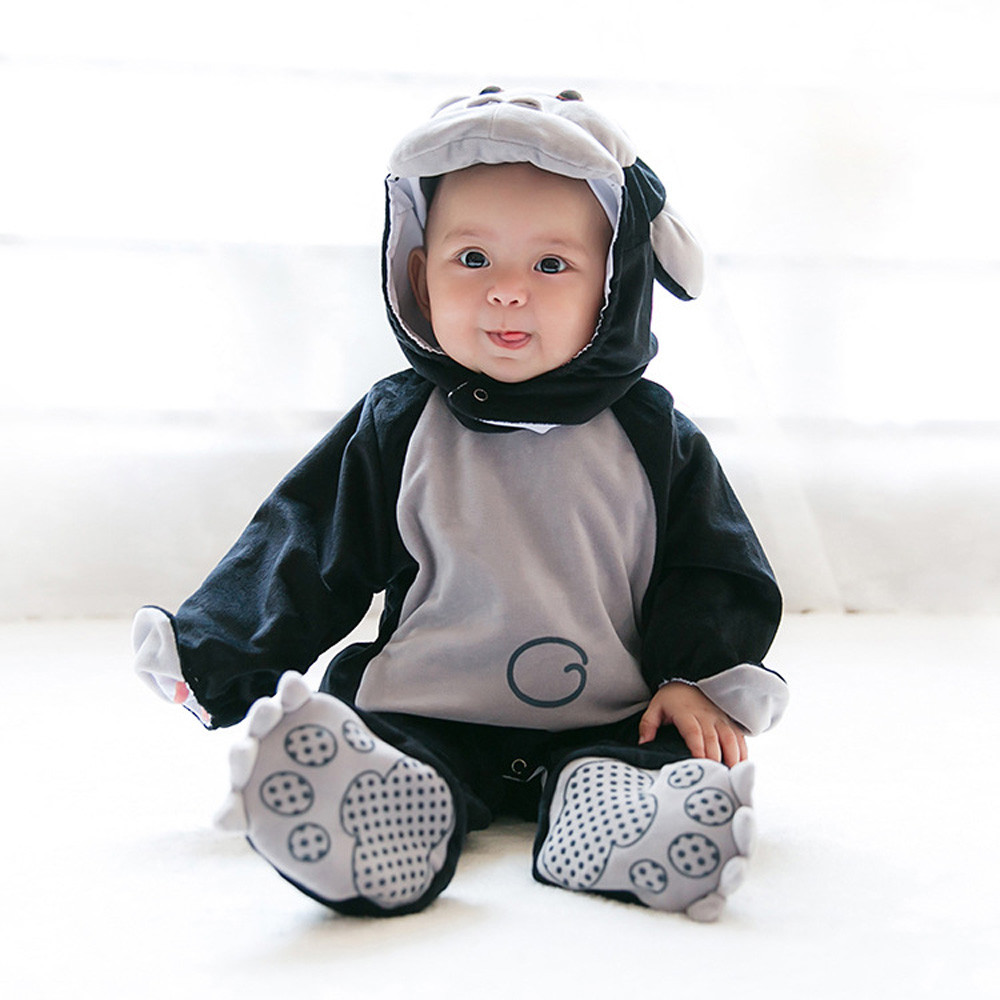 Baby Animal Cosplay Rompers Toddler Carnival Halloween Outfits Boys Shape Costume For Girls Jumpsuits Infant Clothes 30 new year carnival costume kids halloween pumpkin baby boy suit cosplay clothes 4 pieceset infant fantasia holiday event outfits