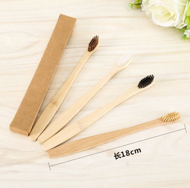 by dhl or ems 500pcs Eco Friendly Natural Bamboo Charcoal Toothbrush Soft Low Carbon Wooden Handle Portable Teeth Brush new-in Toothbrushes from Beauty & Health    1