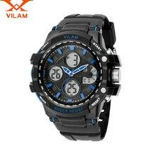 VILAM relogio masculino hombres dz reloj de cuarzo-reloj digital reloj Del Deporte para hombre relojes de primeras marcas de lujo 2016 hombres de los Relojes de pulsera 11/7