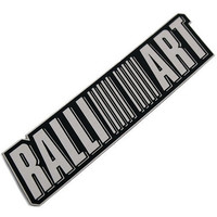 Stainless Alloy RALLIART Styling Sticker For Lancer Evolution 6 7 8 9 10 EX Emblem Badge