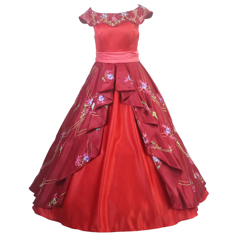 11826 6 De Descuentoadulto Rojo Cosplay De Elena De Avalor Elena De La Princesa Elena Adulto Vestido De Fiesta Vestido De Traje On Aliexpress