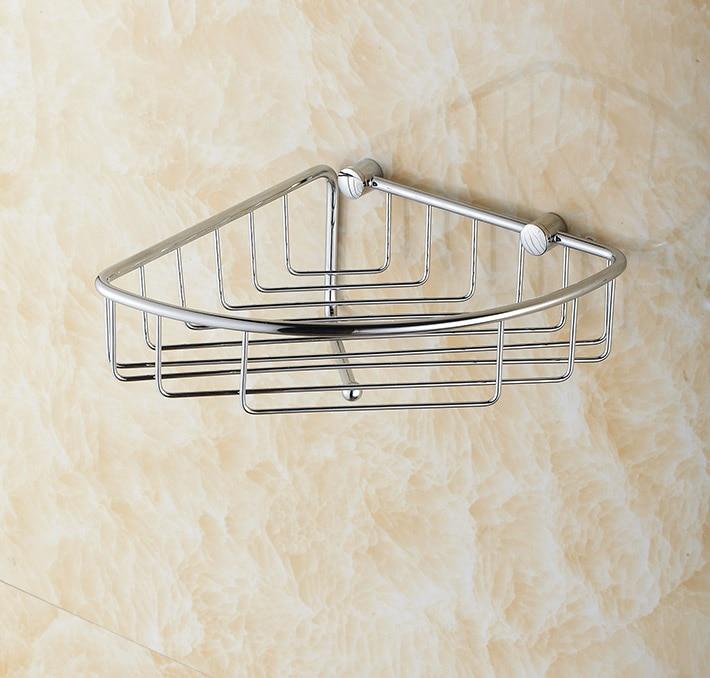 Corner Shower caddy Rustproof brass Wall Mount Shower Basket for ...