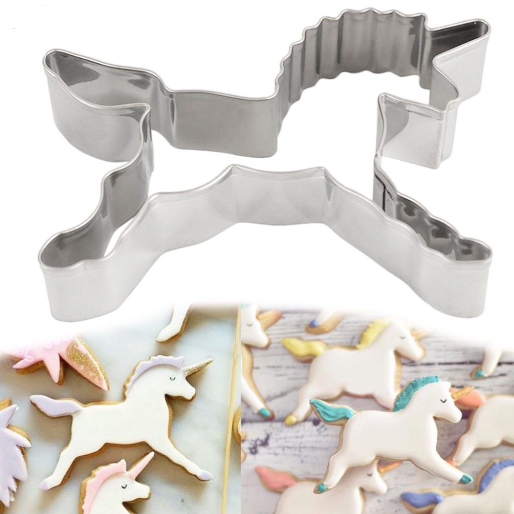 Unicorn Cookie Cutter Tools Egg Shape Vegetable Biscuit