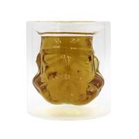 150 ml de Star Wars Stormtrooper Cerveza Vino Whisky Botella de Vidrio de Agua Fresca Crystal Tiro Doble Capa Taza de Té de Café de Cristal Drinkware