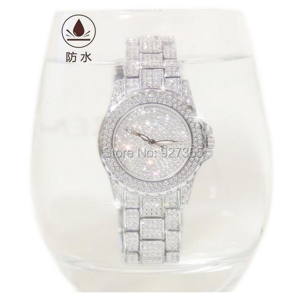 Hot Sales! Luksus Crystal Women Watches! Kvindelig Diamond Kjole Se - Dameure - Foto 5