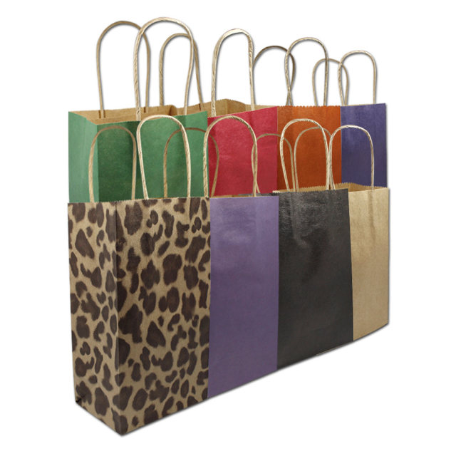 150pcs Wholesale Floral Printed Kraft Paper Gift Bags With Handle