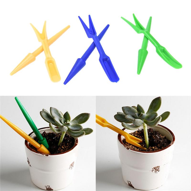 2Pcs Multi-function Mini Garden Scoop Succulents Soil Scoops Plastic Shovel Spoons Potted Flowers Garden Spade