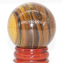 Natural Iron Tiger Eye Ball Mineral Quartz Sphere Hand Massage Crystal Healing Feng Shui Home Decor Accessory 40mm