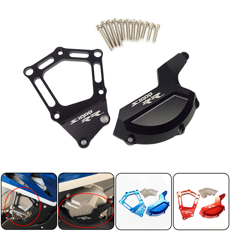 For BMW S1000RR HP4 Motorcycle Engine Saver Stator Protector Case Guard Cover Slider for BMW S1000RR HP4 K42 K46 2009-2015 New new motorcycle aluminum frame slider blue engine stator starter cover slider protector for bmw s1000rr hp4 k42 k46 2009 2015