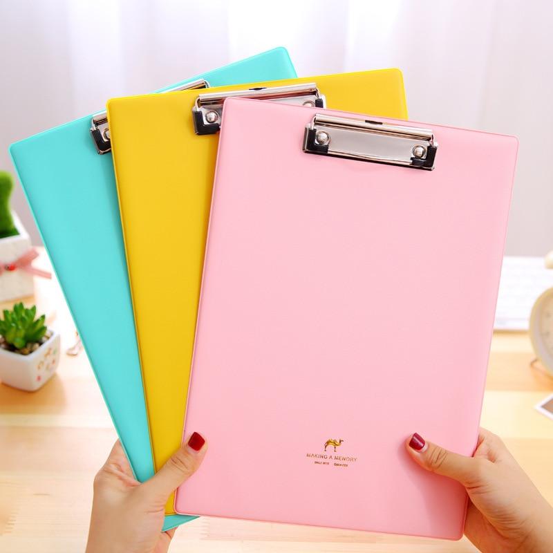 1pcs Candy Creative Folder Student Papers WordPad Cartoon A5 Folder Writing Board Folder Filing Document School&Office Supplies