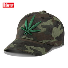 UNIKEVOW Brand New High Quality Camouflage Baseball Cap 3D Leaves Embroidered Caps Outdoor Sport Snapback Hat For Men Women brand new high quality 2017 kids baseball caps baby has