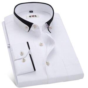 Image 5 - MACROSEA vestido de negocios para hombre, camisa Formal con cuello abotonado, informal, para primavera y otoño
