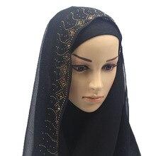 цены Pearl Chiffon Headscarf hot drilling long term long scarves female shawl hijab bufanda hombre
