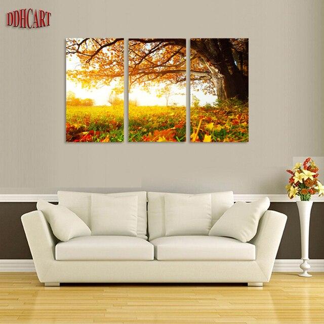 Hojas de arce de color amarillo dorado y hierba, 3 Unid/set HD ...