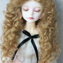JD139 MSD мохеровый парик для куклы 1/4 длинный Середина расставания кудрявый кукольный парик 7-8 дюймов аксессуары для кукол