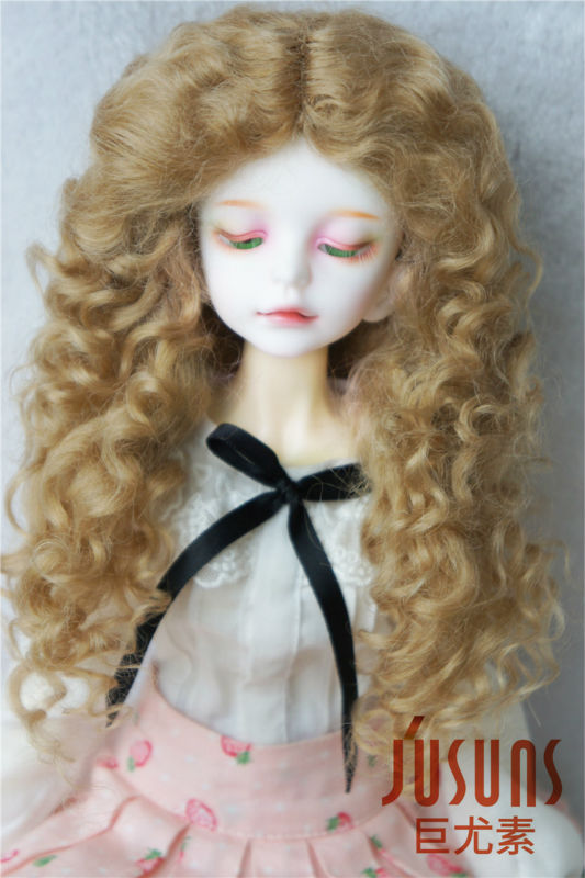 JD139 MSD Mohair BJD Wig 1/4 Long Mid parting curly Doll wig 7-8 inch doll accessories 8 9 bjd wig silver knights of england volume mohair wig spot