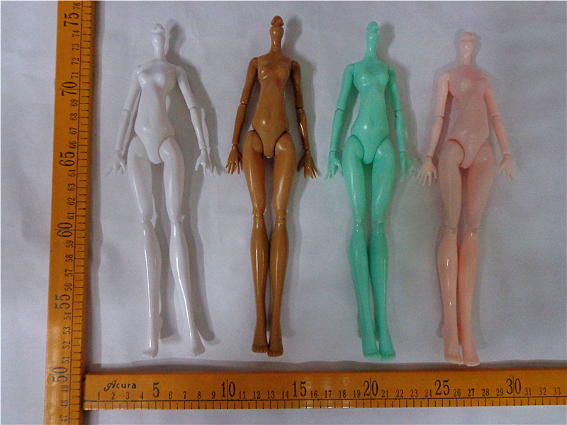 5 pcs//lot Multi-Joint Rotatable Nude doll body Toy Movable Flexible accessorries
