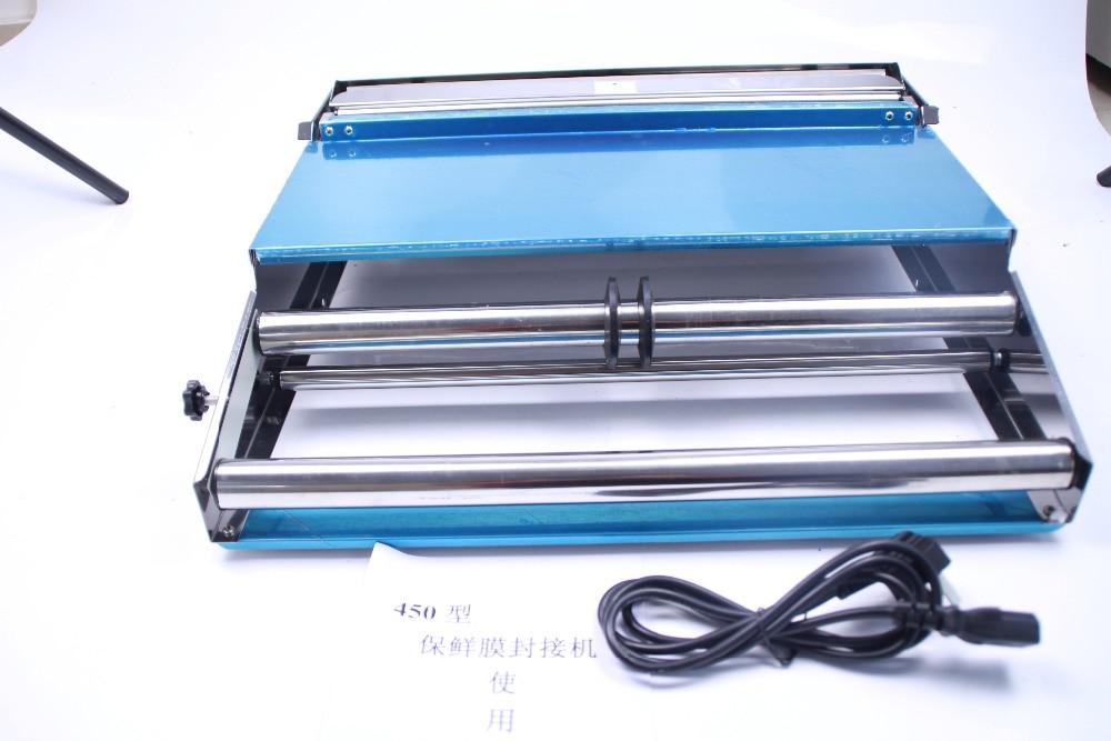 Largeur de cachetage 450mm plateau alimentaire emballage civière pellicule de film scellant machine d'emballage