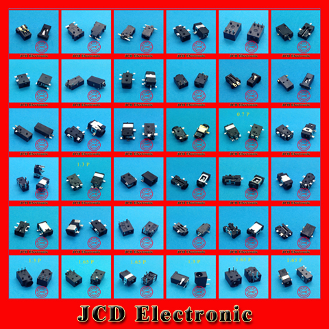 1 lot /36 Models /72pcs Widely Using Power DC Jack Connector, Socket for Laptop Tablet, Mini Pad