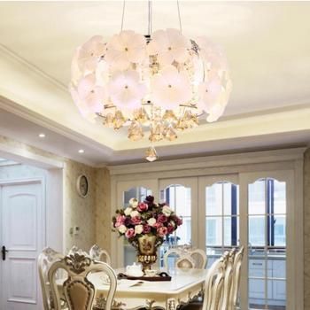 Modern Bedroom pendant lights Romantic Dining Room Lamp Crystal Light  Living Room Suspension Luminaire