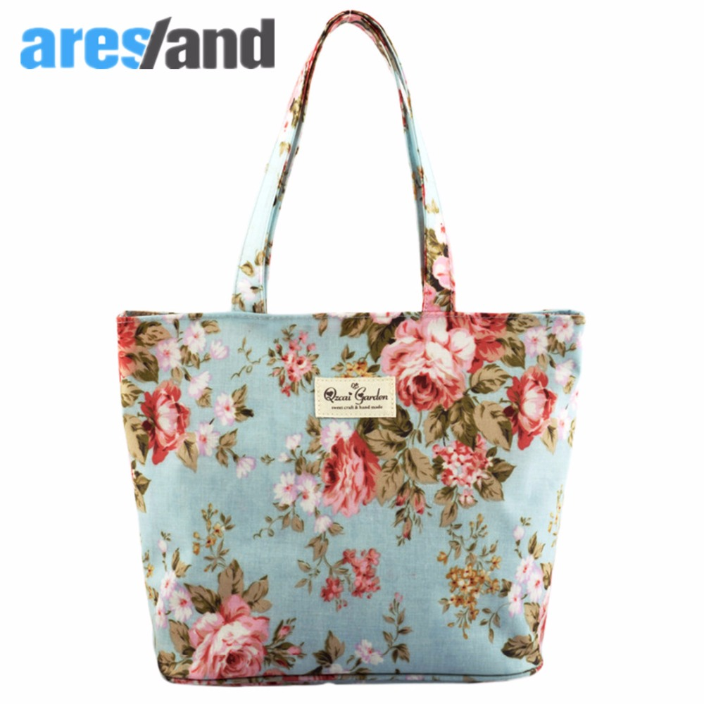 Aresland Mini Women Handbag Tote Bag Las Rose Flower Frosted Cloth Handbags Universal Durable Zipper Bolsas Feminina In Top Handle Bags From Luggage