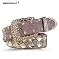 EDRINUO 2016 Nuevo Diseñador de moda de Lujo mujeres Rhinestone cinturón Accesorios Cinturones cinturones para las mujeres rosa correa w160/110 cm