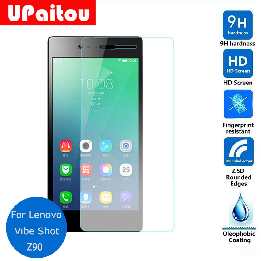 UPaitou Glass For Lenovo Vibe Shot Tempered glass Lcd Screen Protector Safety Protective Film on Z90 Z90-3 Z90-7 Dual Sim Lte