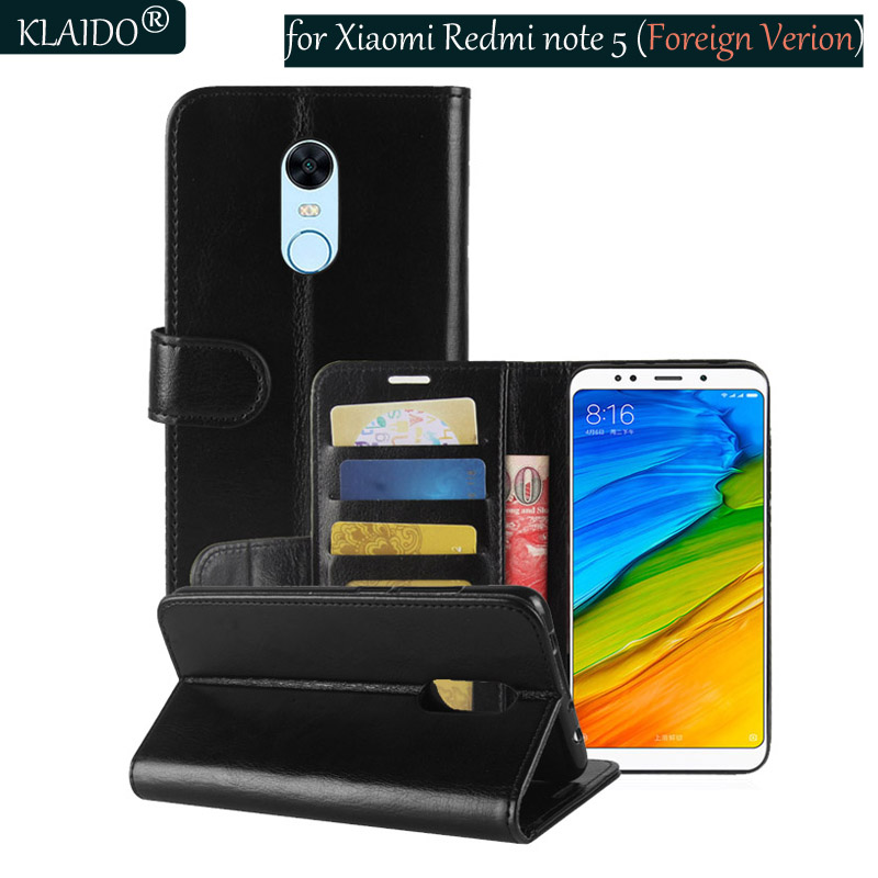 cheap for discount c247b af3f4 Phone Leather Cases For Xiaomi Redmi Note 5 Cover Wallet Case redmi 5 plus  Phone Accessories Parts ...