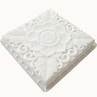 Emblem flower Shadow Antique wall Brick Floor tile Concrete Paving mould Garden building cement path pavement molds