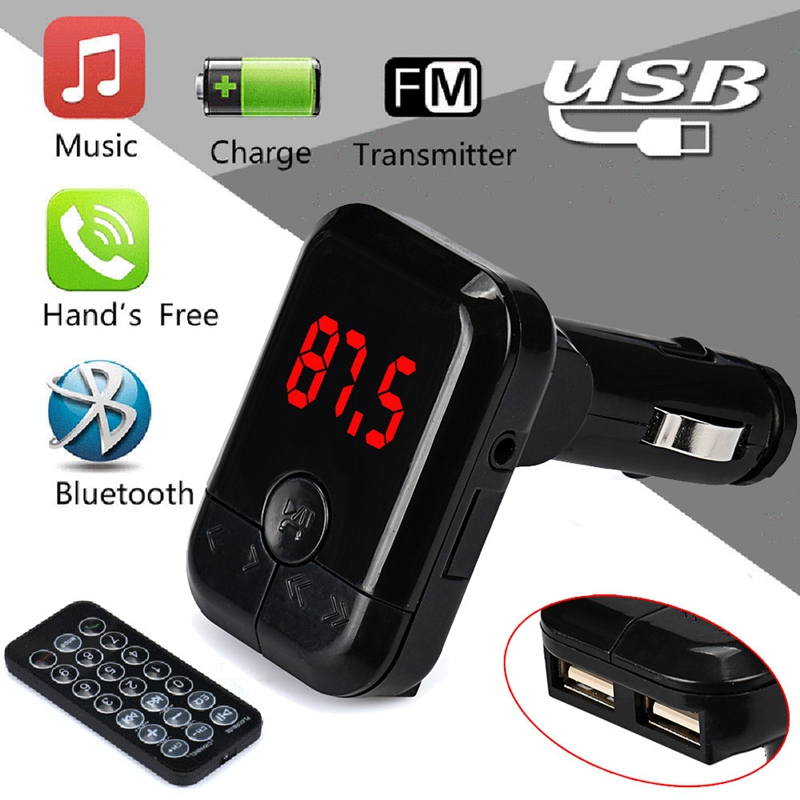Car MP3 Music Player Bluetooth Wireless FM Transmitter MP3 Player Handsfree Car Kit USB TF SD Remote @#228 3 5mm usb fm transmitter car music player for iphone ipad mp3 black