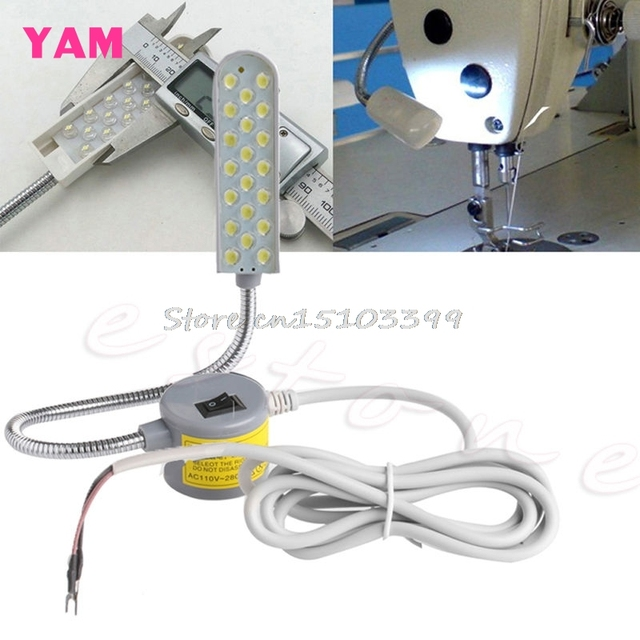 Sewing Machine 20 LED Magnetic Base Flexible Mounting Light Lighting Lamp 220V G08 Drop ship