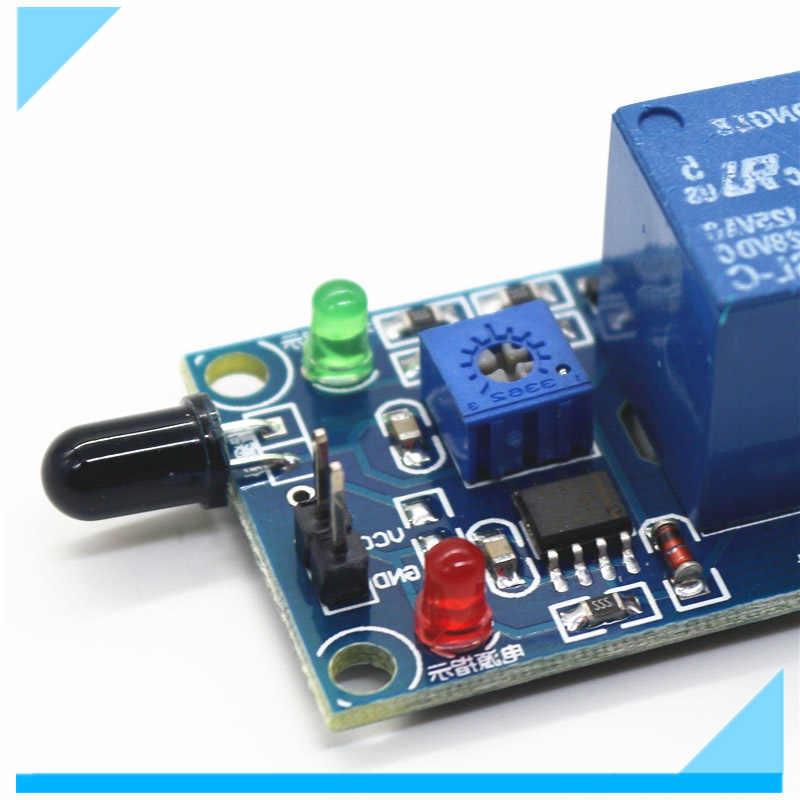 Glyduino Flame Sensor Module and Relay Module Combo for Arduino DC 5V Fire  Detection Fire Alarm