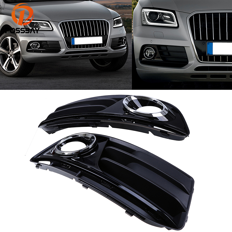 POSSBAY Car Fog Light Cover for Audi Q5(8R) MK1 2012 2013 2014 2015 2016 Facelift Front Lower Bumper Fog Lamp Grilles Cover 1 pair car styling left & right front bumper lower fog light lamp grille cover for audi a4 s line s4 2013 2014 2015 only