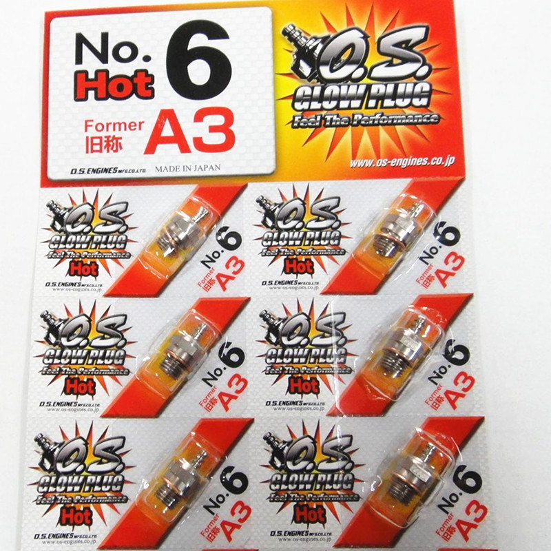 <font><b>OS</b></font> NO.6 O.S. A3 medium plug N Glow Plugs A3 For <font><b>OS</b></font> Engine image
