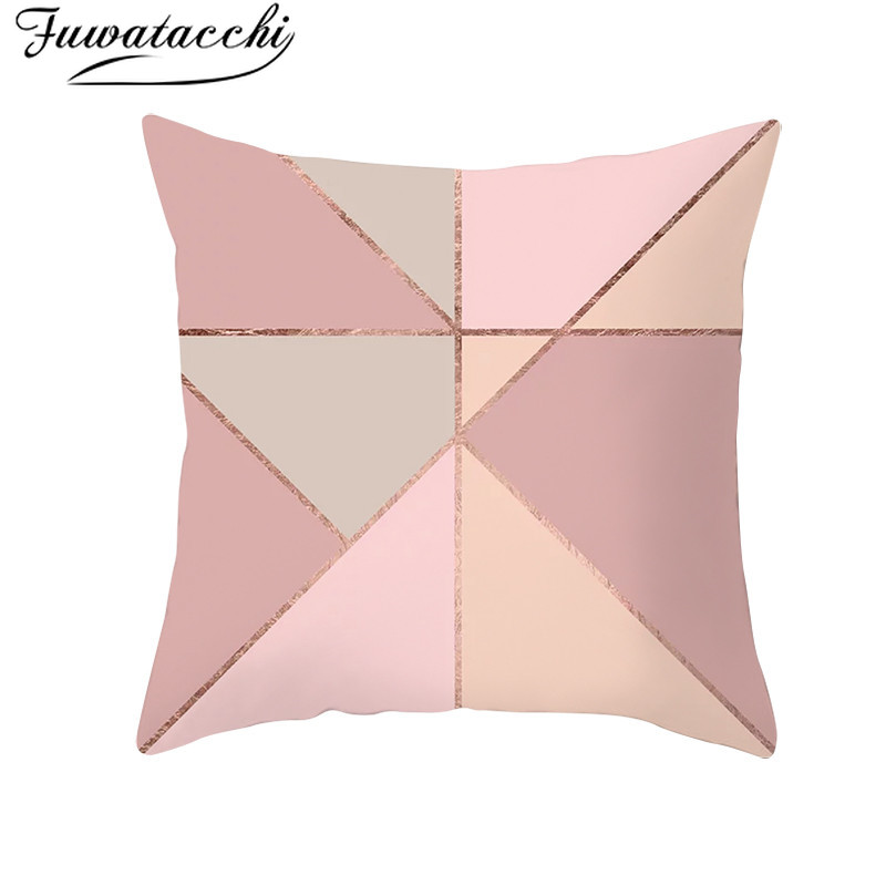 "18/"" Multicolor Peach Skin Pillow Cover Sofa Waist Throw Cushion Case Home Decor"