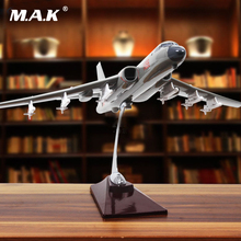 For Collection 40cm 1:72 Scale Tactical Fighter Airplane Bomber H-6K Alloy Aircraft with Stand Model Toy for Children Kid Gift