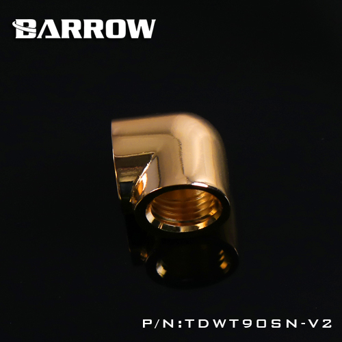 Image 3 - Barrow double internal G1/4'' thread 90 degree Fitting Adapter water cooling Adaptors water cooling fitting TDWT90SN V2-in Fans & Cooling from Computer & Office