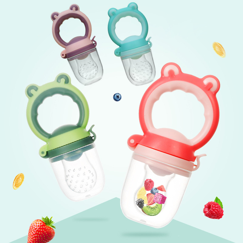 Frog Baby Fruit Vegetable Feeding Pacifier Infant Fresh Food Feeder Toddler Dummy Baby Feeding Pacifier Soother