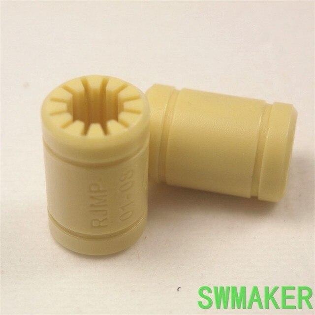 SWMAKER 4pcs 3D 프린터 3D 프린터 고체 폴리머 ID 6/8/10/12mm 샤프트 Igus Drylin RJMP-01-08 RJMP-01-06 RJMP-01-10 RJMP-01-12