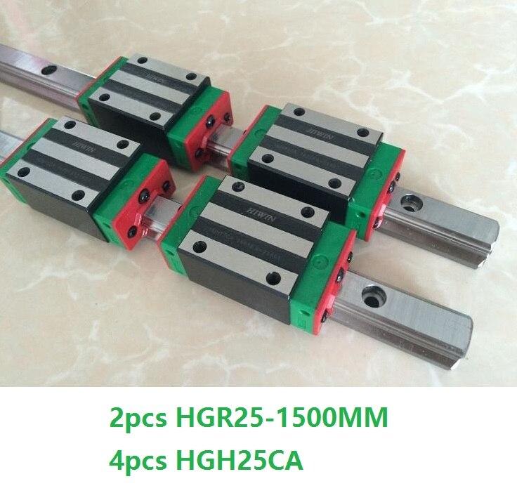 2 pz 100% originale Hiwin guida di guida lineare HGR25-L 1500mm + 4 pz HGH25CA O HGW25CA Lineare blocco del Carrello Per CNC HGW25CC2 pz 100% originale Hiwin guida di guida lineare HGR25-L 1500mm + 4 pz HGH25CA O HGW25CA Lineare blocco del Carrello Per CNC HGW25CC
