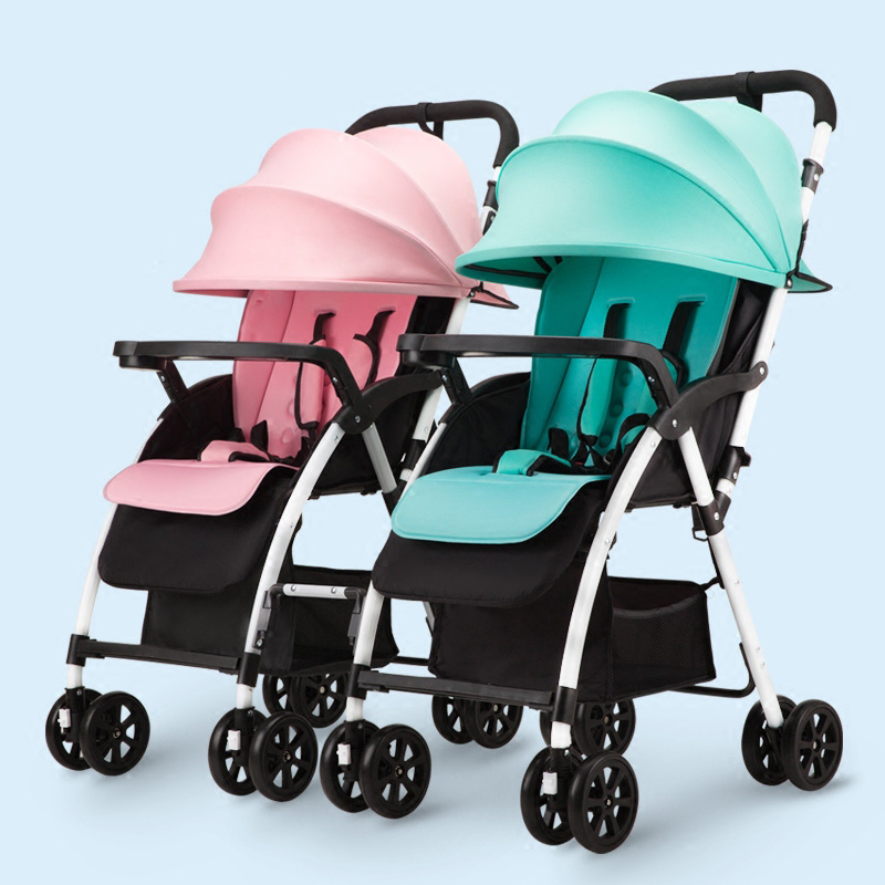 Twins baby stroller can be split light can be sitting down folding shock baby two baby carriage twins Random combination angelguard high landscape twins baby stroller can split ultra light umbrella can be two color twins baby stroller