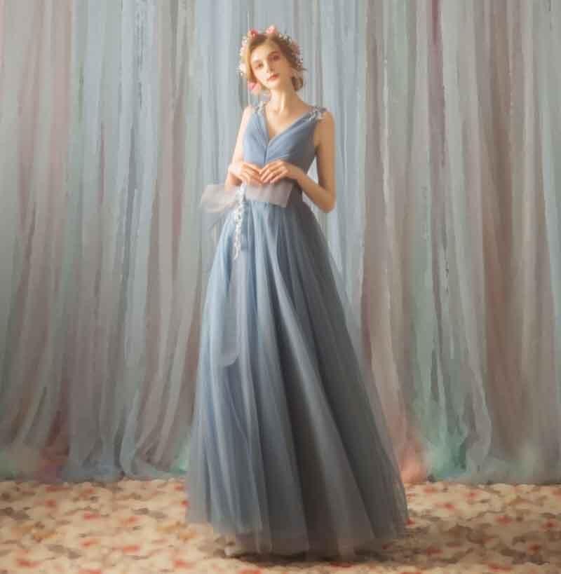 1546048b4 Vestido Mujeres 2019 Azul Moda Fiesta Sin Tamaño Mangas Malla Vestidos Lujo  Formales Cuello 3xl De ...