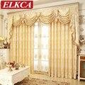 Cortinas para la Ventana del Dormitorio de Lujo Real de Oro europea Cortinas para la Sala de estar Cortinas Cortinas Elegantes