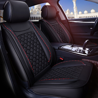 Autofans Universal Microfiber Leather Diamond Sports Car Seat Covers Classic Lattice Seat Cushion Seat Protector Airbag Free Z15