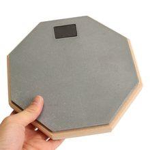 8 pulgadas De Goma De Madera tambor mudo Silencioso Drumpad Para Principiantes de Percusión Tranquilo Formación Práctica pad de Batería Para Bateristas