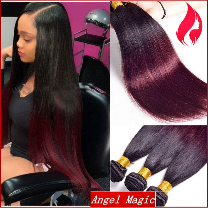 7a 3 boundles 100g red ombre hair extensions long silky straight 7a 3 boundles 100g red ombre hair extensions long silky straight brazilian wefts for black women human remy hair free shipping in hair weaves from hair pmusecretfo Images