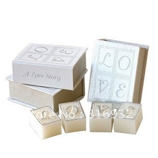 M2 Love book candles wedding gifts wedding favors 4sets/lot