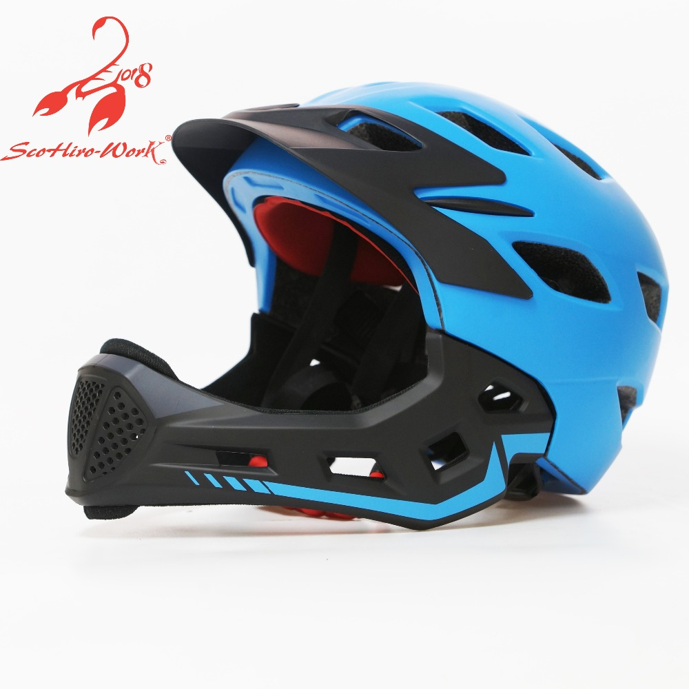 Kids full face bike bicycle helmet ultralight child mtb cycling motorcycle helmet parallel car skating riding