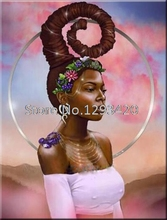 Full Square Drill 5D DIY Diamond Embroidery African woman Painting Cross Stitch Rhinestone Mosaic Decoration